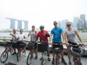 singapore bike tour in the morning