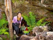 Walking out of cave Hualalai-XL
