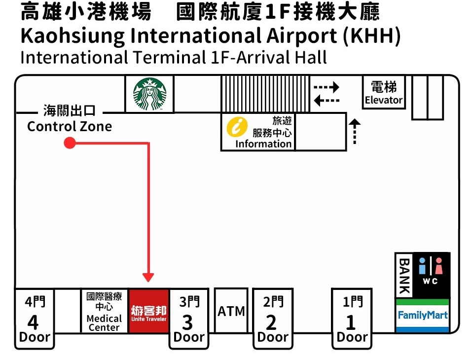 高雄機場平面圖