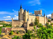 Alcazar of Segovia, Segovia from Madrid