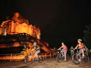 thailand chiang mai night bike tour temple stop