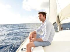 sail on board a catamaran