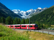 Bernina Express Crossed Alps
