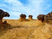 yehlui geopark unusual rock formations taiwan