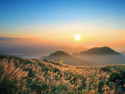 sunset at yangmingshan national park taiwan