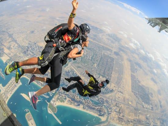Tandem skydiving at Skydive Dubai Palm dropzone16