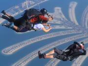 Tandem skydiving at Skydive Dubai Palm dropzone17