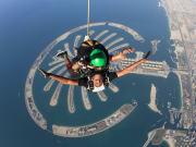 Tandem skydiving at Skydive Dubai Palm dropzone18