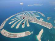 Tandem skydiving at Skydive Dubai Palm dropzone22