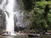 waterfall in ayung river bali indonesia rafting
