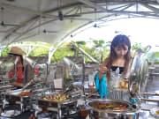 gourmet buffet lunch in bali indonesia