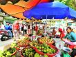 vietnam local market fresh fruits