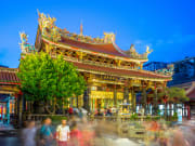 longshan temple at night taipei city tour
