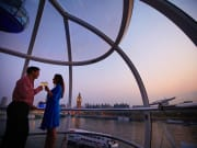 Romantic date at the London Eye