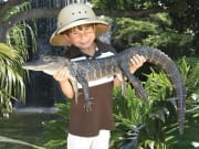 Boy with gator