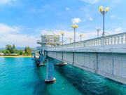 Sarasin Bridge phuket thailand blue sky and water
