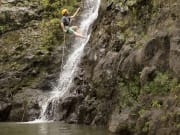 Jim, guide, on 30-ft. falls