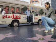 Starline Movie Stars Homes Bus on Walk of Fame