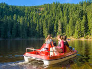 Pedal boat in Mummelsee Lake