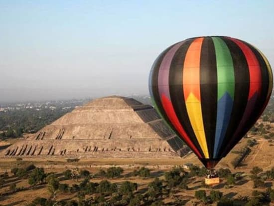 Scenic Hot Air Balloon Flight Over The Teotihuacan Valley