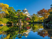 Picture-perfect pond in the Osaka Castle compound