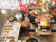 A typical food stall in Hong Kong