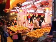 Assortment of fruits at a local market