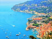 French Riviera Cote d'Azur aerial view