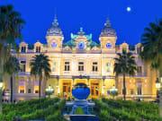 The grand casino in Monaco at night