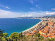 Panoramic view of Promenade des Anglais