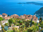 Scenic view of the Mediterranean coastline from the top of the town of Eze in France