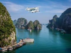 Seaplane to Ha Long Bay