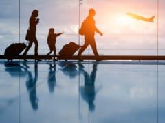 Airport, Tourists, Airplane