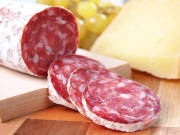 slices of salami from tuscany