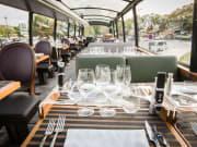 Bus, Upperdeck, Wine Glasses