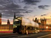 Bus, Westminster Bridge, Night