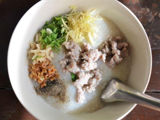 pork porridge with egg