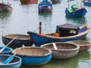Vietnam traditional basket boat