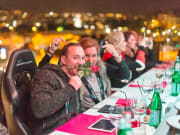Guests at Dinner in the Sky