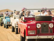 Vintage 1950's Land Rover Drive to Bedouin Camp