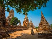 bangkok Wat Chaiwatthanaram ayutthaya bike tour