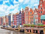 49620362_ML Beautiful views of the streets, ancient buildings, people, embankments of Amsterdam