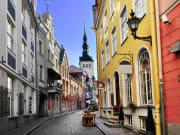 Charming streets of Tallinn Old Town, Estonia