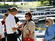 Fjord cruise passengers