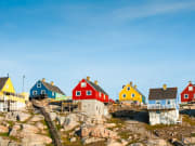 Charming colorful houses in Greenland