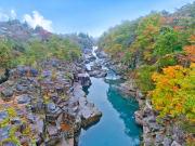 Pristine waters flowing through Genbikei Gorge