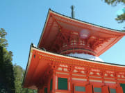 Red Temple on Mt. Koya