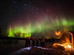 Northern Lights, Snowshoe hiking from Rovaniemi