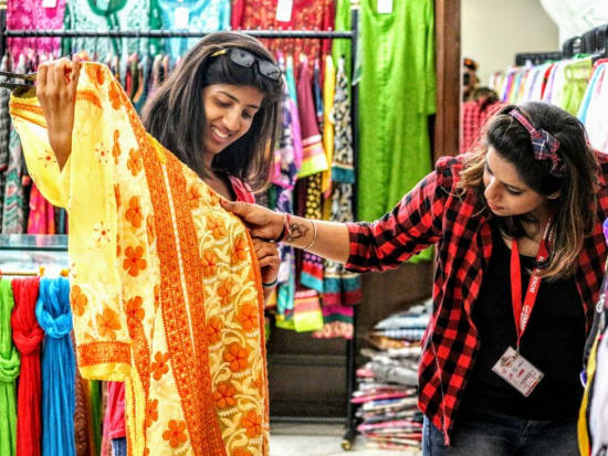 Traditional designs on Indian garments and sarees