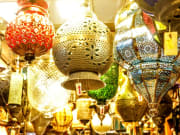 Hanging display of local handicrafts
